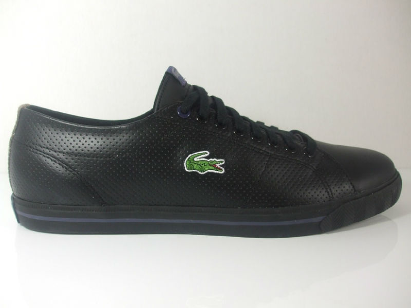 f7e6bd896e30b Lacoste Marcell CO Trainer Black. This men s Marcel CO style from Lacoste .