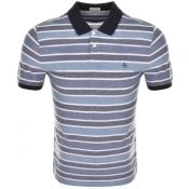Original Penguin Birsdeye Stripe Polo Navy