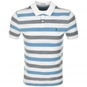 Original Penguin Birsdeye Stripe Polo White