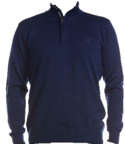 Paul & Shark 1/2 zip lighter weight sweater Cadet Blue