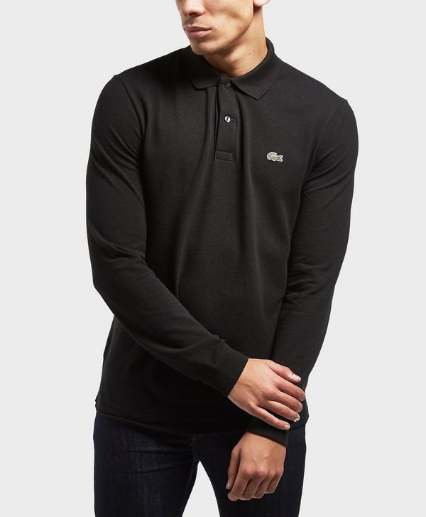 6971df176d Lacoste Long Sleeve Polo Shirt Black