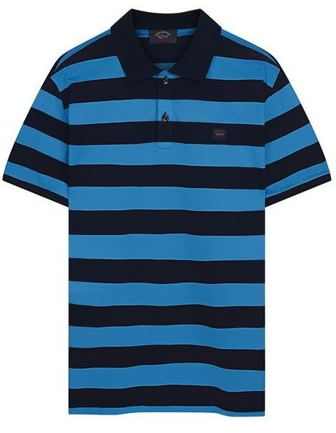 Paul & Shark Stripe Polo Shirt  Navy / Blue